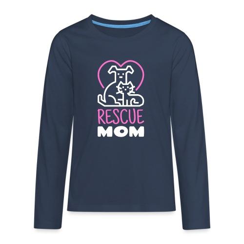 Rescue Mom - Teinien premium pitkähihainen t-paita