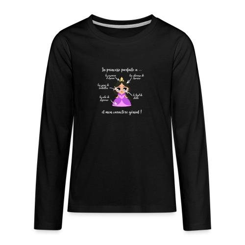 Princesse parfaite - T-shirt manches longues Premium Ado