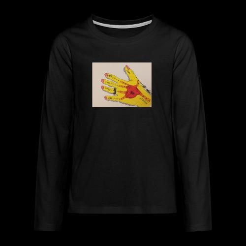 9D8D600F D04D 4BA7 B0EE 60442C72919B - Teenager premium T-shirt med lange ærmer