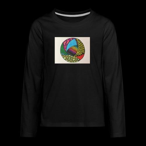 circle corlor - Teenager premium T-shirt med lange ærmer
