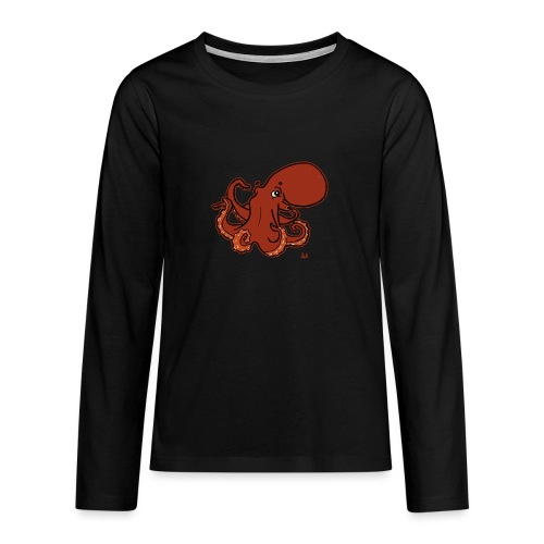 Giant Pacific Octopus (black edition) - Teenagers' Premium Longsleeve Shirt