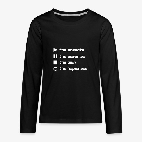 Play the Moments Stop the Pain - Teenager Premium Langarmshirt