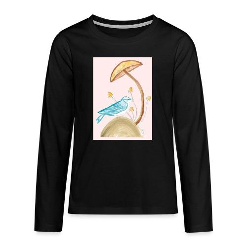 fungo con uccello - Maglietta Premium a manica lunga per teenager