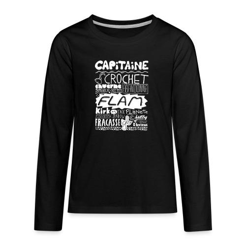 capitaine-blanc Tee shirts - T-shirt manches longues Premium Ado