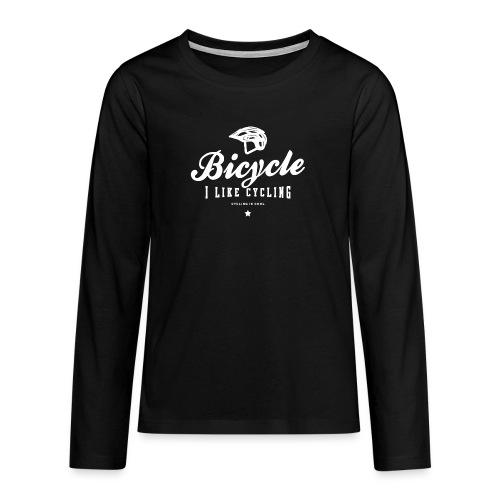 bicycle - Koszulka Premium z długim rękawem dla nastolatków