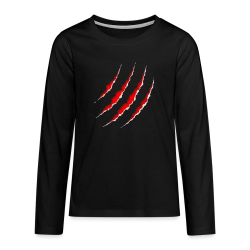 Scars - Teenager premium T-shirt med lange ærmer