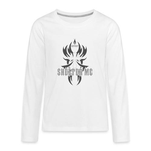 Support Shelter MC - Premium langermet T-skjorte for tenåringer