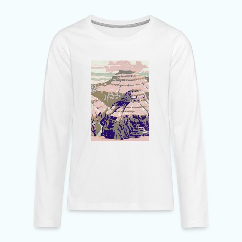 Rocky Mountains Vintage Travel Poster - Teenagers' Premium Longsleeve Shirt