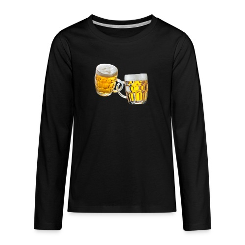 Boccali di birra - Maglietta Premium a manica lunga per teenager