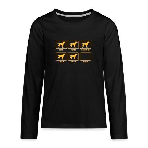 Für alle Hundebesitzer mit Humor - Teenager Premium Langarmshirt