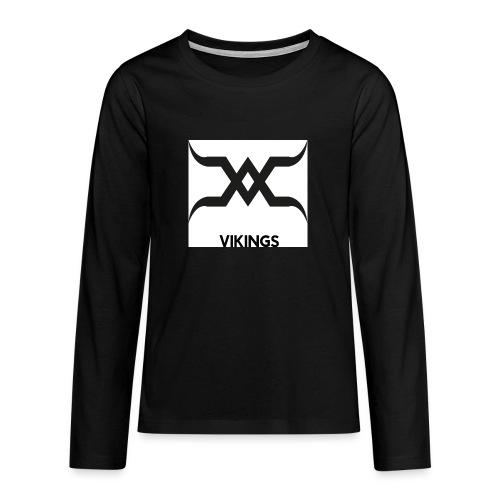 Vikings Logo - T-shirt manches longues Premium Ado