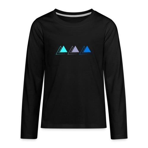 triple pyramide - T-shirt manches longues Premium Ado
