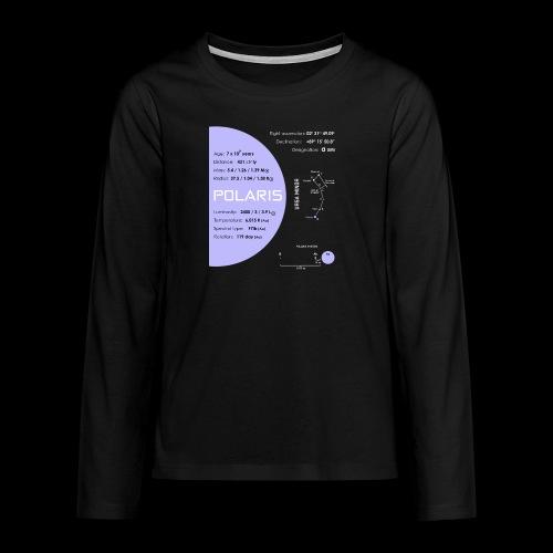 Polaris (Polarstern / α Ursae Minoris) - Teenager Premium Langarmshirt
