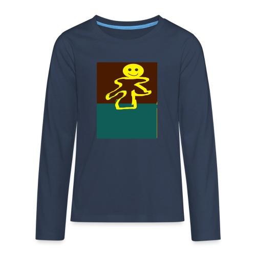 Glad mand - Teenager premium T-shirt med lange ærmer