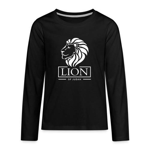 Lion of Judah - Rastafari - Teenager Premium Langarmshirt