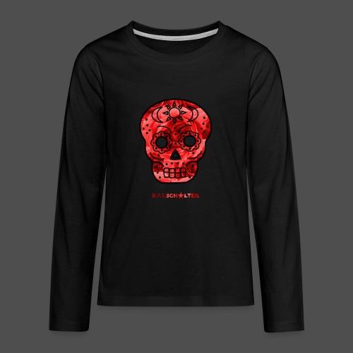 Skull Roses - Koszulka Premium z długim rękawem dla nastolatków