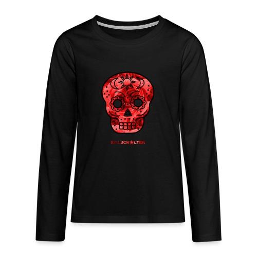 Skull Roses - Teenagers' Premium Longsleeve Shirt
