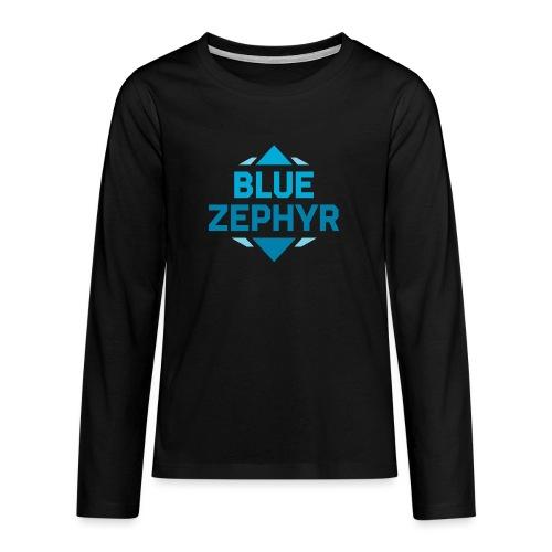 Logo - Teinien premium pitkähihainen t-paita