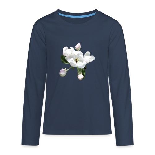 Omenankukka ja kukkakärpänen - Teinien premium pitkähihainen t-paita