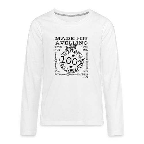1,02 Prodotto a Avellino - Maglietta Premium a manica lunga per teenager