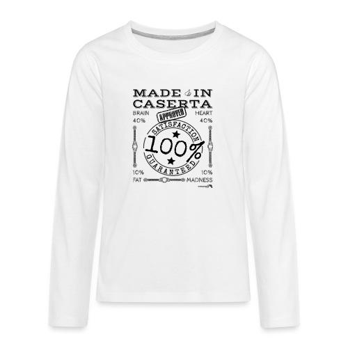 1.02 Made in Caserta - Maglietta Premium a manica lunga per teenager