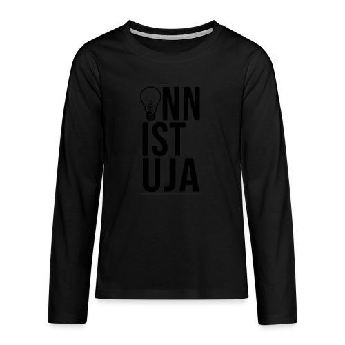 Onnistuja Musta - Teinien premium pitkähihainen t-paita