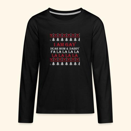 Gay Christmas sweater - Koszulka Premium z długim rękawem dla nastolatków