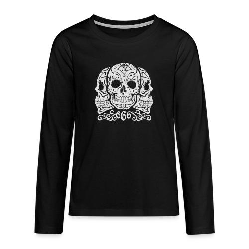 Skull Dia de los muertos - T-shirt manches longues Premium Ado