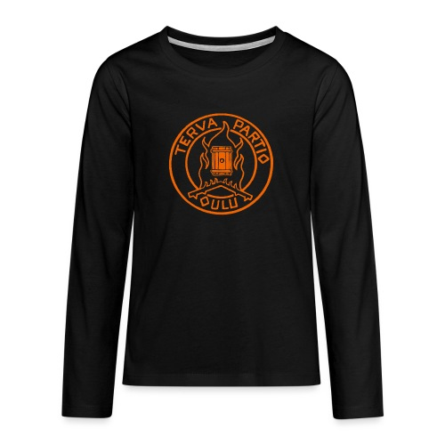 Tervapartio_oranssi - Teinien premium pitkähihainen t-paita