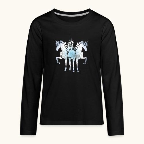 Licorne troika metal grunge drôle idée cadeau - T-shirt manches longues Premium Ado