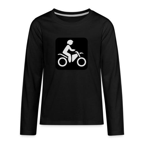 motorcycle - Teinien premium pitkähihainen t-paita