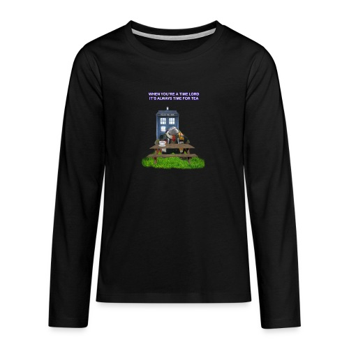 TIME AND SPACE AND TEA - Teenagers' Premium Longsleeve Shirt