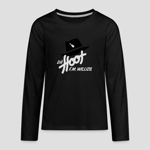 daeHoot_Shirt_Logo1_2c - Teenager Premium Langarmshirt