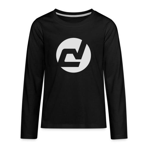 logo blanc - T-shirt manches longues Premium Ado