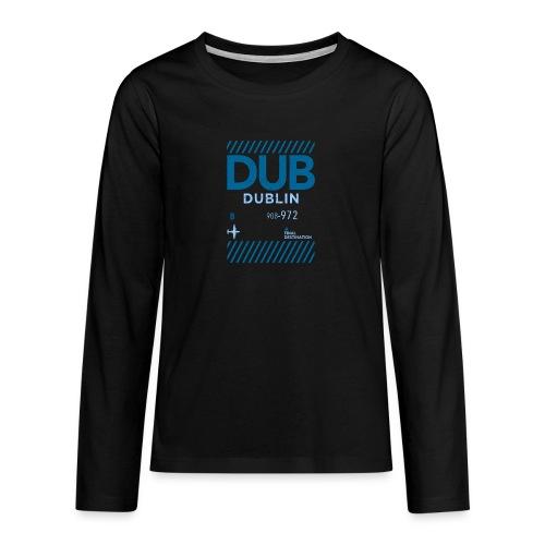 Dublin Ireland Travel - Teenagers' Premium Longsleeve Shirt