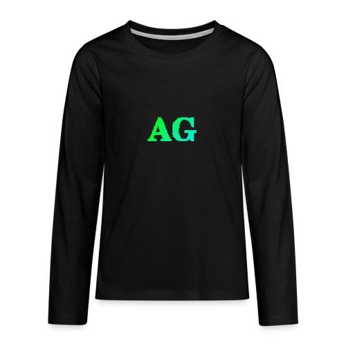 ATG Games logo - Teinien premium pitkähihainen t-paita