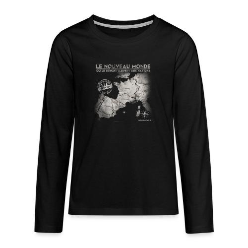 euroregions BLANC - T-shirt manches longues Premium Ado