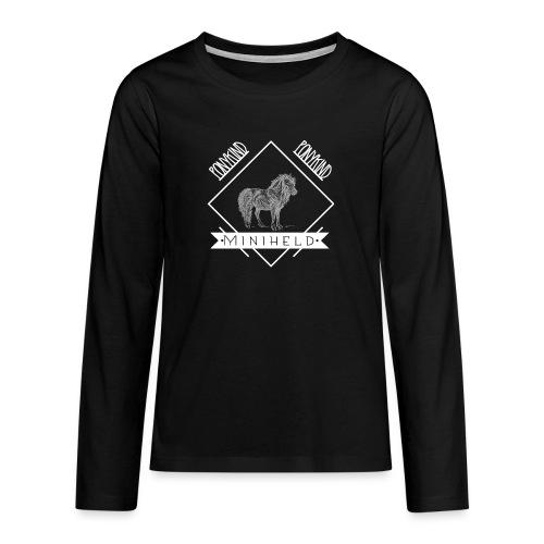 Pony Miniheld - Teenager Premium Langarmshirt