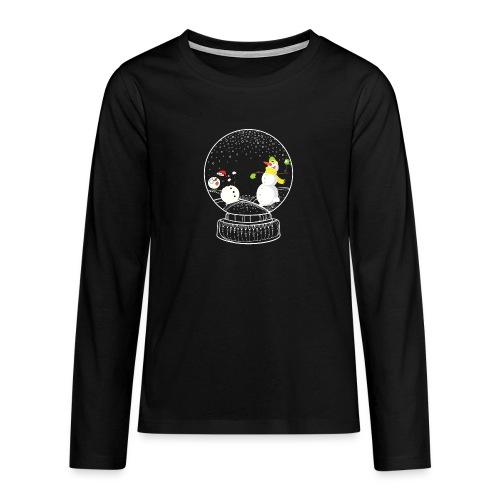 Schneeballschlacht - Teenager Premium Langarmshirt