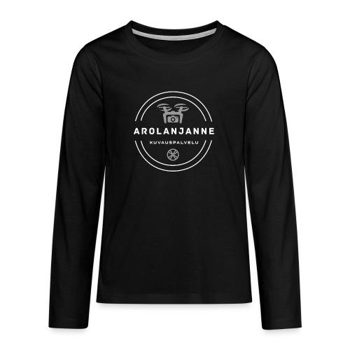 Janne Arola valkoinen - kuva edessä - Teinien premium pitkähihainen t-paita