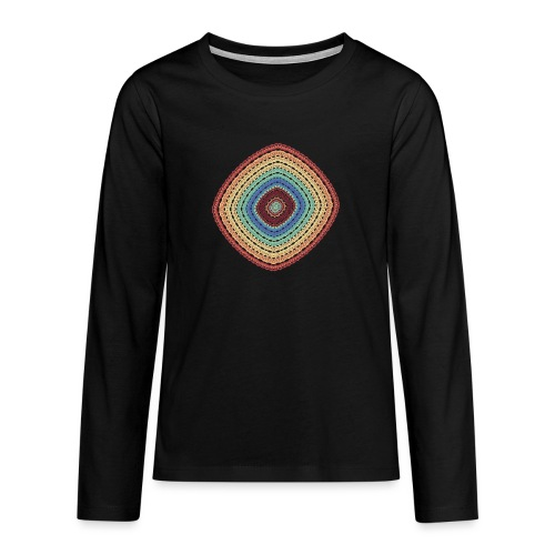 Lucky square in summery colors - Teenagers' Premium Longsleeve Shirt