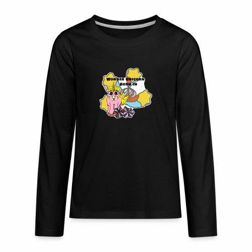 Merveilleuse Licorne née (pour fille) - T-shirt manches longues Premium Ado