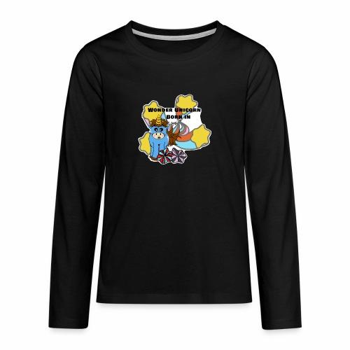 Une merveilleuse licorne est née (pour garcon) - T-shirt manches longues Premium Ado