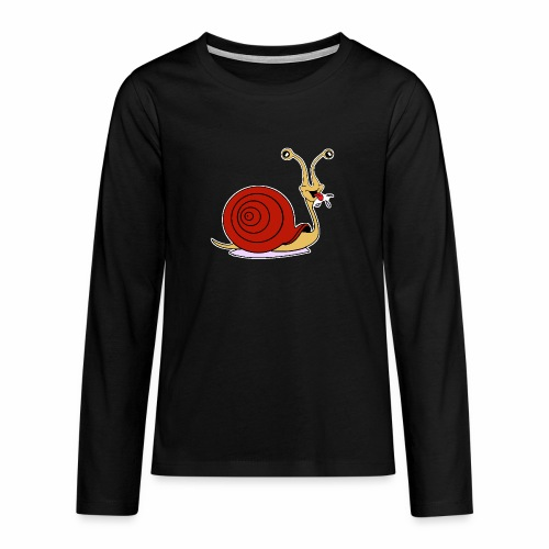 Escargot rigolo red version - T-shirt manches longues Premium Ado