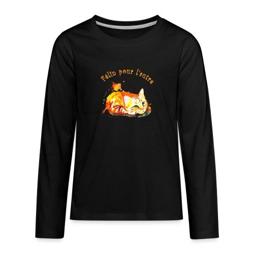 Chat roux,Félin pour l'autre - T-shirt manches longues Premium Ado