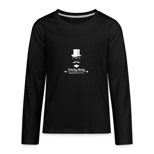 Schicky Micky Grosser K Weiss - Teenager Premium Langarmshirt