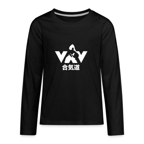 Aikido - Teenager Premium shirt met lange mouwen