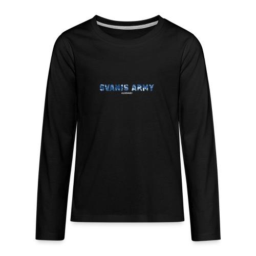 SVANIS ARMY (ALEXSVANIS VIT) - Långärmad premium T-shirt tonåring