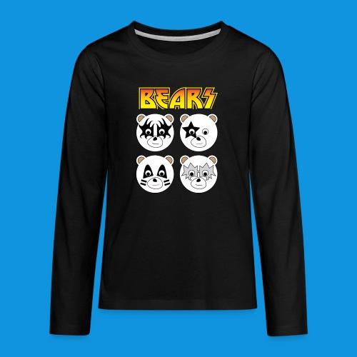 Kiss Bears square.png - Teenagers' Premium Longsleeve Shirt
