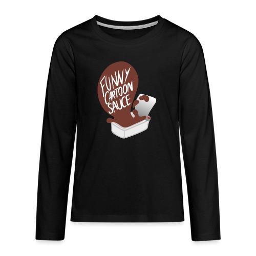 FUNNY CARTOON SAUCE - FEMALE - Teenagers' Premium Longsleeve Shirt